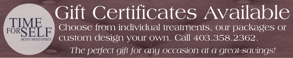 TIME FOR SELF GIFT CERTIFICATES